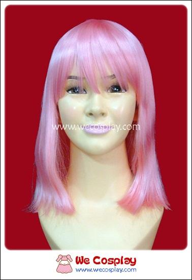 วิกผมบ๊อบสั้น สีชมพูนมเย็น Pink Bob Cosplay Wig
