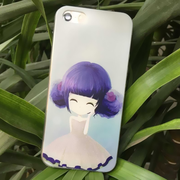เคสไอโฟน 5/5s/SE(เคสนิ่มคลุมรอบเครื่อง)สาวเกาหลีน่ารัก แบบ 19