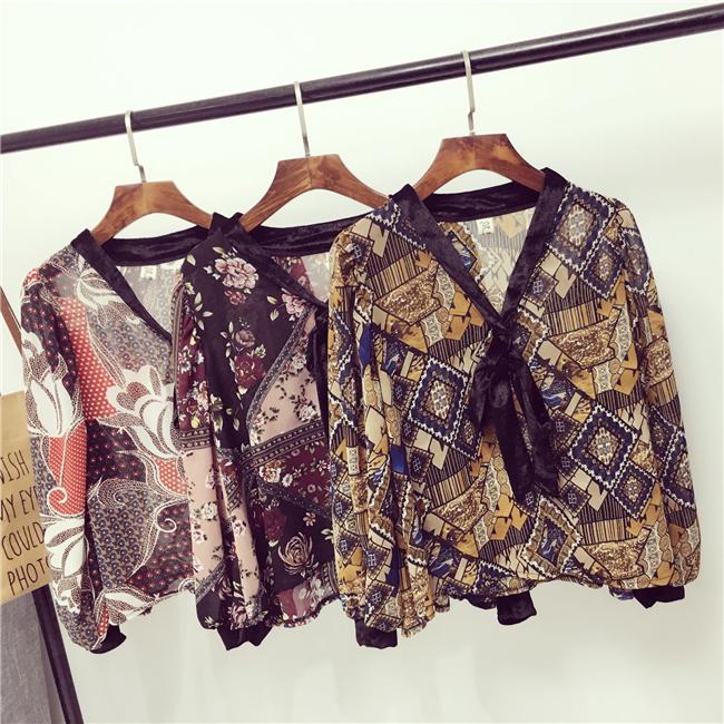 เสื้อแฟชั่นแขนยาว สไตล์สาวเกาหลี ผ้าโปร่ง นิ่ม เบาสบาย น่าสวมใส่รับหน้าร้อนเมืองไทย