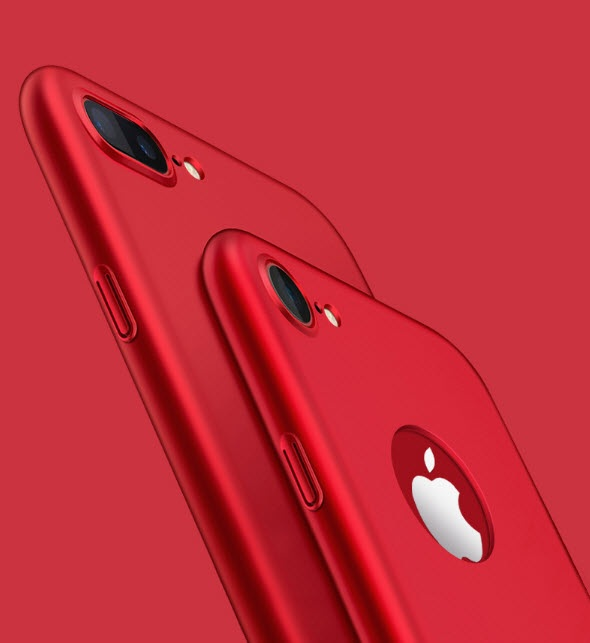 เคสไอโฟน 6Plus/6sPlus (Hard Case) สีแดง