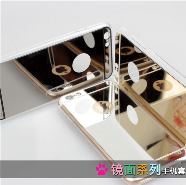 เคสไอโฟน 6 Plus / 6s Plus (TPU Case) ด้านหลังเคลือบพลาสติกกระจกสีทอง