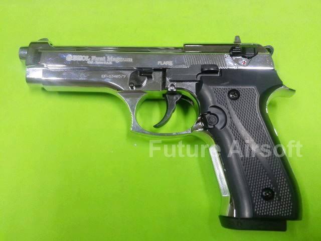 Ekol Firat Magnum/Beretta M92 Chrome , cal. 9mm P.A.K. Blank Gun Gen.2 (เงินเงา)