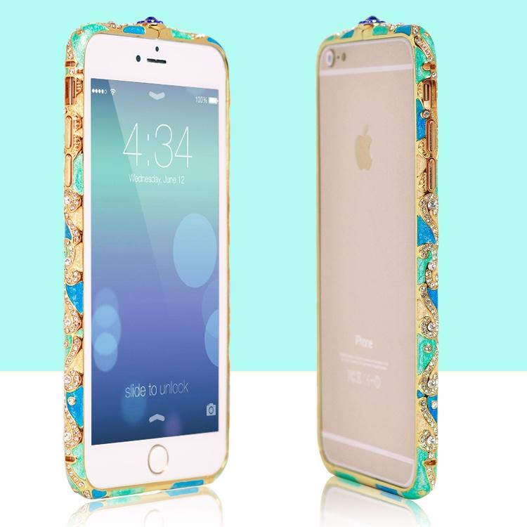 เคสไอโฟน 6 Plus / 6s Plus (Bumper case) Green And Blue