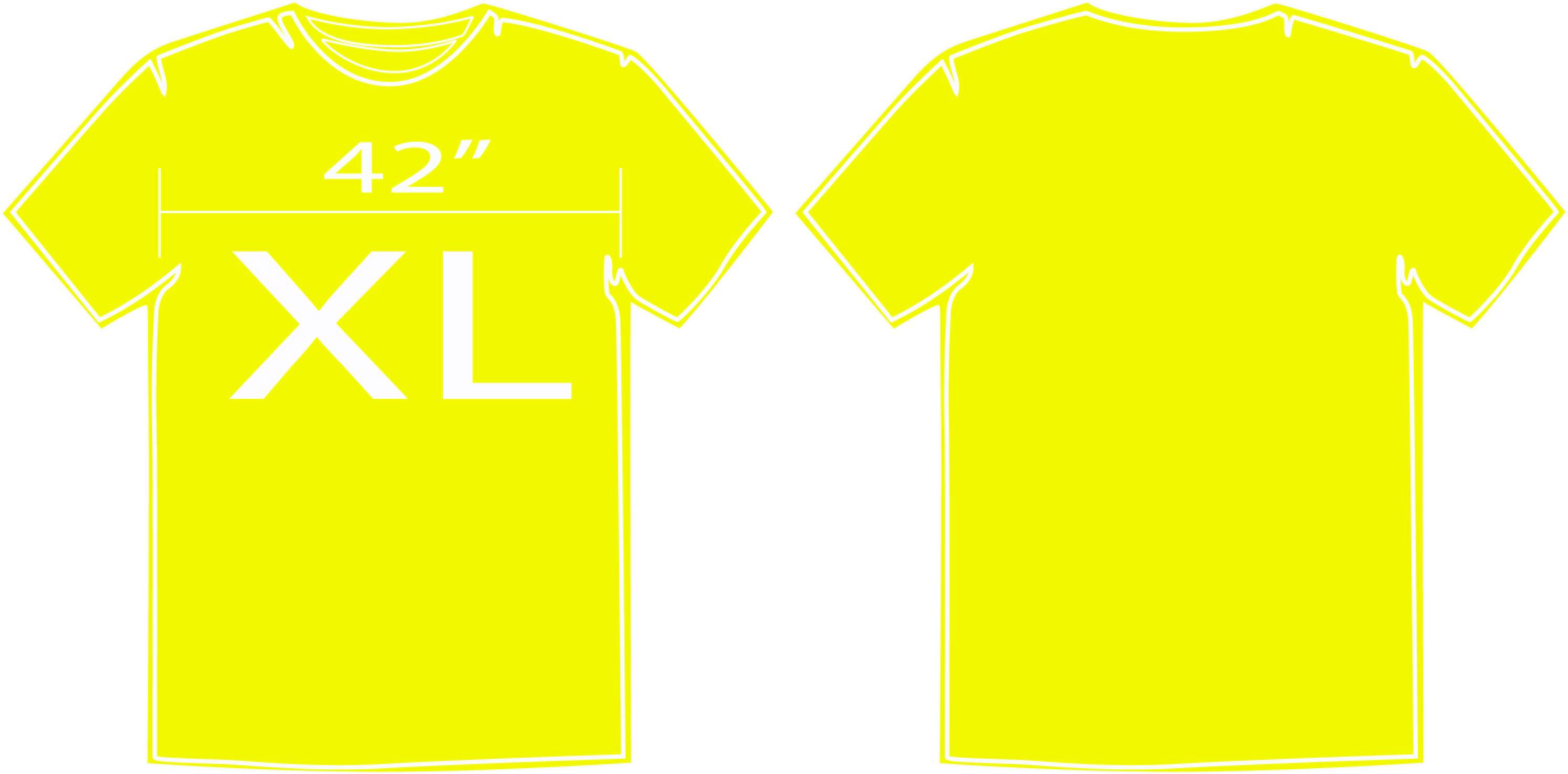 เสื้อสีพื้นสีเหลือง size XL
