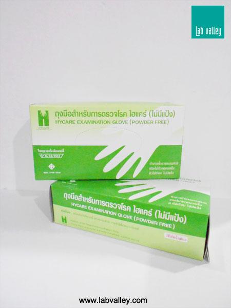 ถุงมือสำหรับการตรวจโรค ชนิดไม่มีแป้ง examination gloves