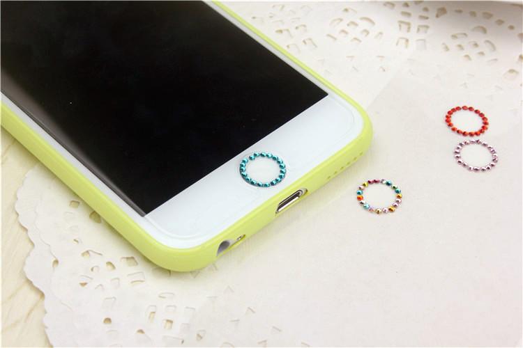 ปุ่มโฮมไอโฟน เพชรสีฟ้ารอบ Touch ID Button