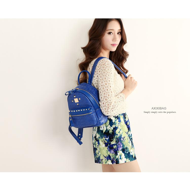 กระเป๋าเป้สะพายหลัง สีสันสดใส หนังมันวาวสีสวย ให้สาวๆ ได้ใส่ของกันอย่างจุใจ