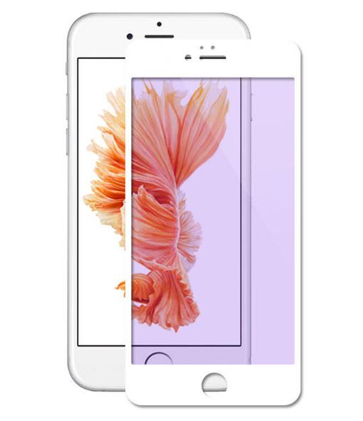 ฟิล์มกระจก 3D แสงม่วงเป็นมิตรต่อดวงตา ฟิล์มแบบเต็มจอ สีขาว สำหรับ Iphone 6/6s
