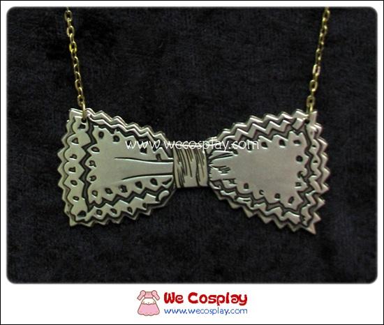 สร้อยคอโกธิคโลลิต้า จี้โบว์ สีทองโบราณ Gothic Lolita Necklace