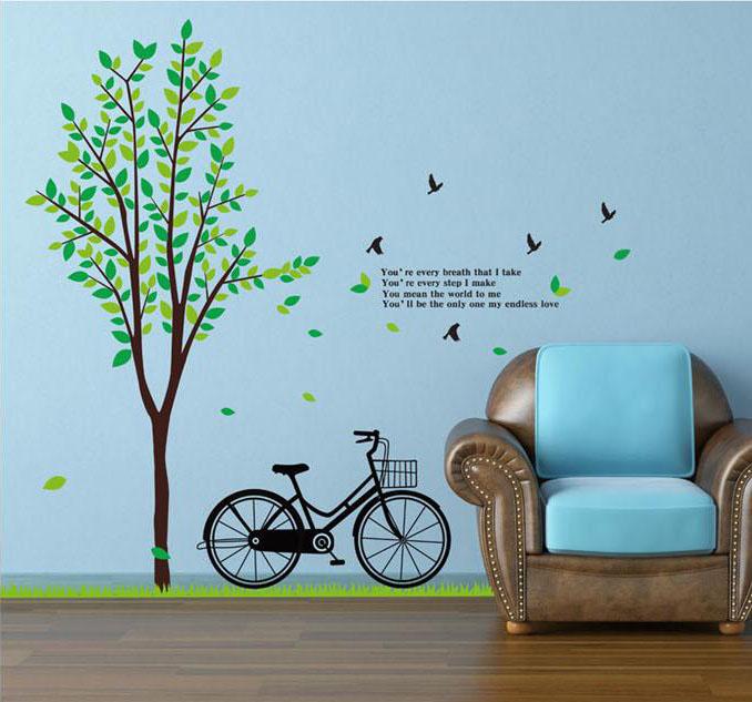 ต้นไม้จักรยาน 2แผ่น a235