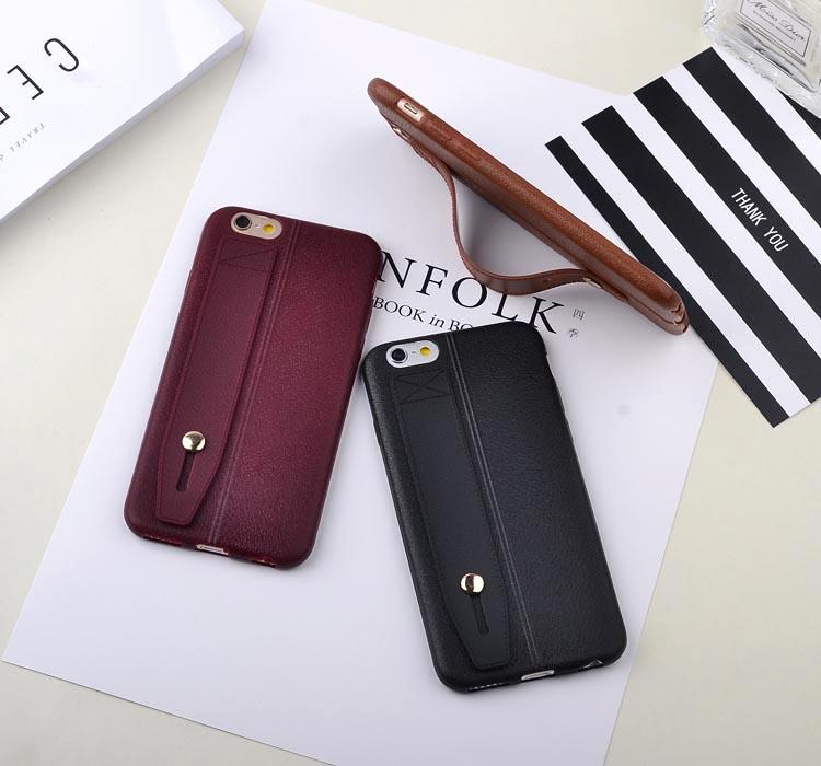 เคสไอโฟน 7 ( Silicone Case) พร้อมที่วางฝ่ามือ สีดำ
