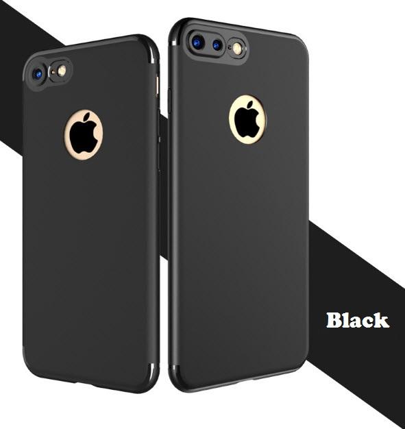 เคสไอโฟน 6Plus/6sPlus (Silicone Case) สีดำ รุ่นป้องกันกล้อง+โชว์โลโก้แอปเปิ้ล