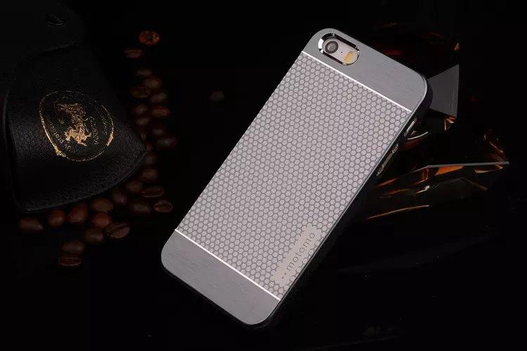เคสไอโฟน 6 Plus / 6s Plus เคสไอโฟน Hard Case Motomo กรอบอลูมิเนียมเกาหลีลายจุด สีเทา