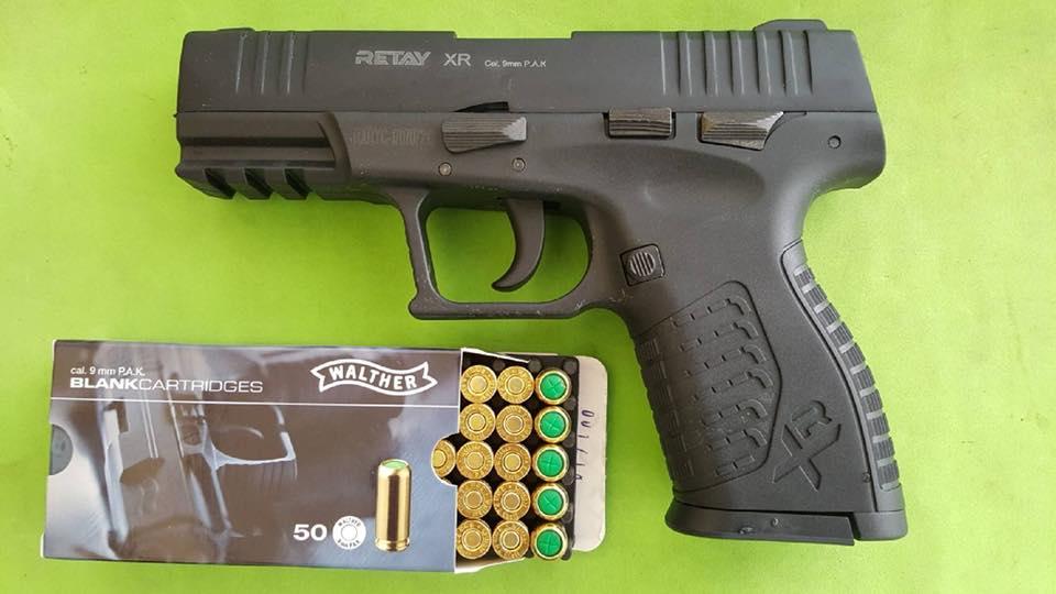 ปืนแบลงค์กันส์สิ่งเทียมอาวุธปืน Retay XR Black 9mm. P.A.K. Blank gun.