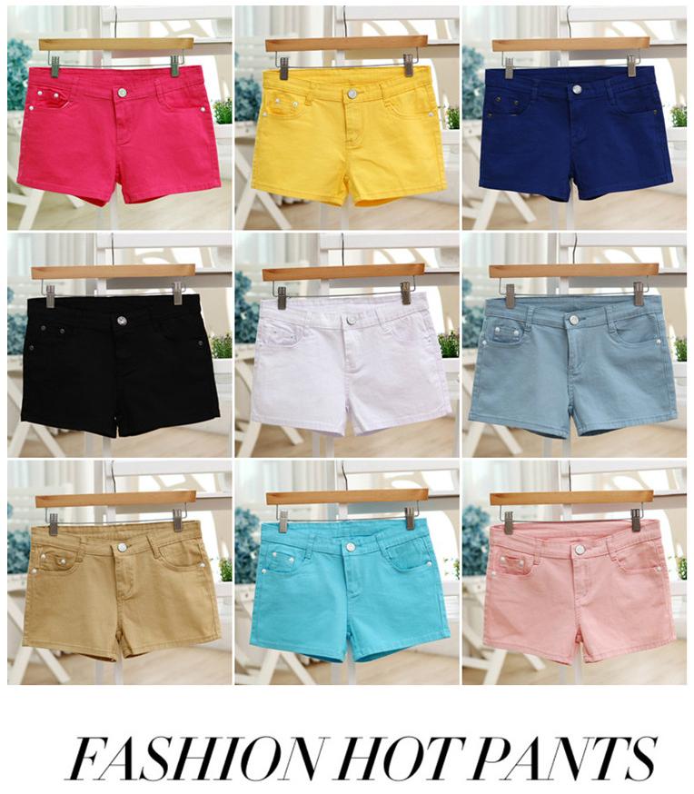 กางเกงขาสั้นแฟชั่นสุภาพสตรี สีสันสดใส ใส่ชิลๆ ได้ทุกวัน สีสันจัดจ้านโดนทุกวัย SET3