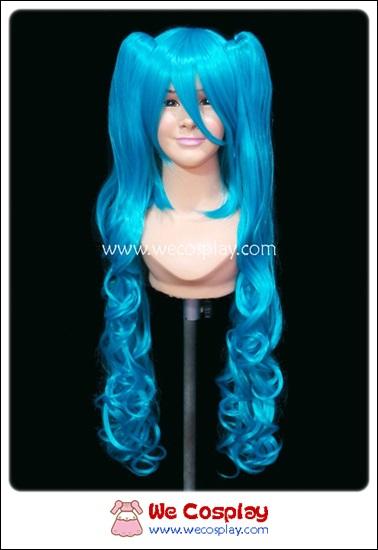 วิกผมมิคุ โวคาลอยด์ แบบลอน Hatsune Miku Vocaloid Cosplay Wig