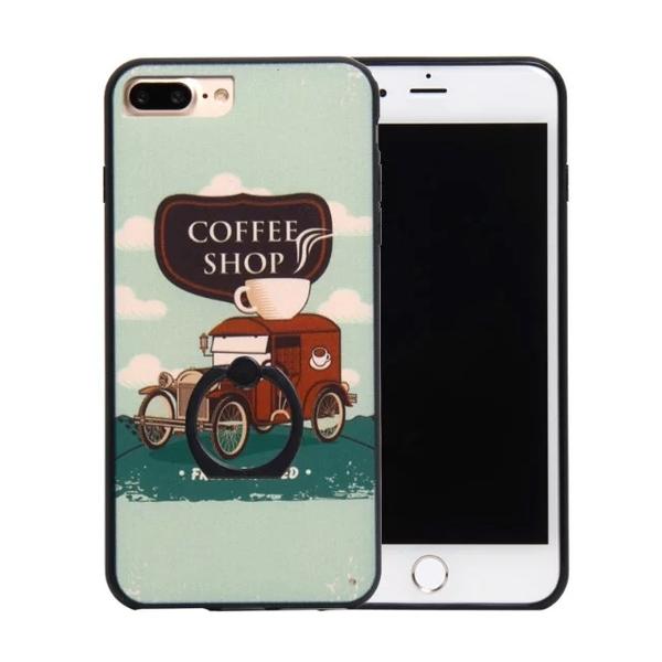 เคสไอโฟน 7 (Silicone Bumper and Hard Case Back) พร้อมห่วง แบบ 8