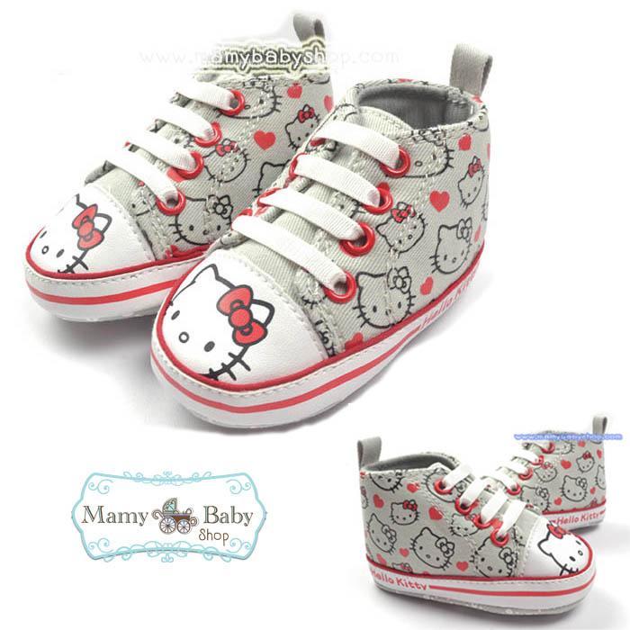 รองเท้าผ้าใบ Kitty ขอบแดง