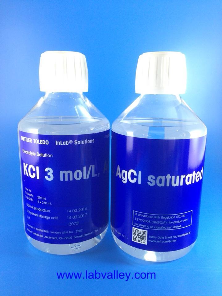 สารละลายอิเล็กโทรไลต์ Electrolyte Solution KCl 3mol/L ; AgCl sat.