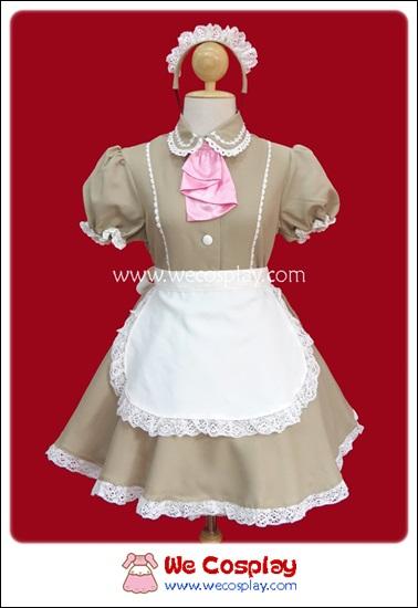 ชุดเมดคาเฟ่ลาเต้ Café Latte Maid Costume สีกาแฟนม