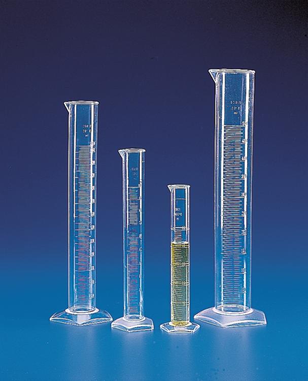 กระบอกตวงพลาสติก เนื้อขาวใส Cylinder plastic (PMP)