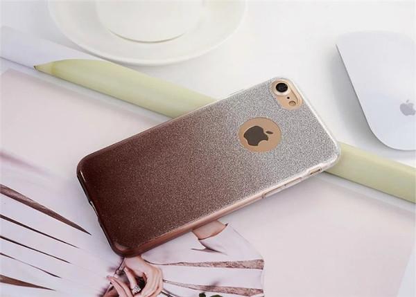 เคสไอโฟน 7 (TPU Case) เคสกากเพชรสีน้ำตาล