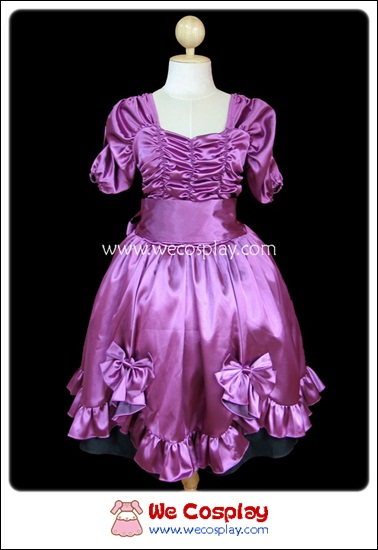 เดรสสวีทมาเจนต้าโลลิต้า สีม่วง Sweet Magenta Lolita Dress