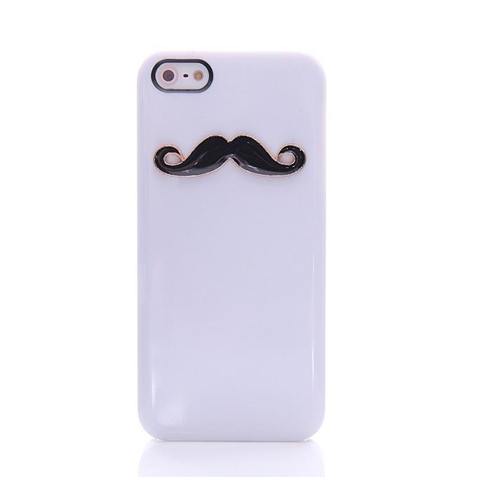 เคสไอโฟน 5C (Hard Case) กรอบขาวเคราดำ