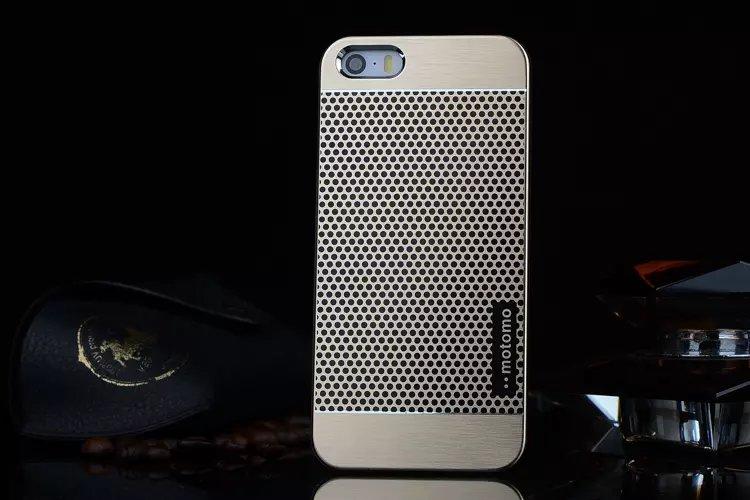 เคสไอโฟน 6 Plus / 6s Plus เคสไอโฟน Hard Case Motomo กรอบอลูมิเนียมเกาหลีลายจุด สีทอง