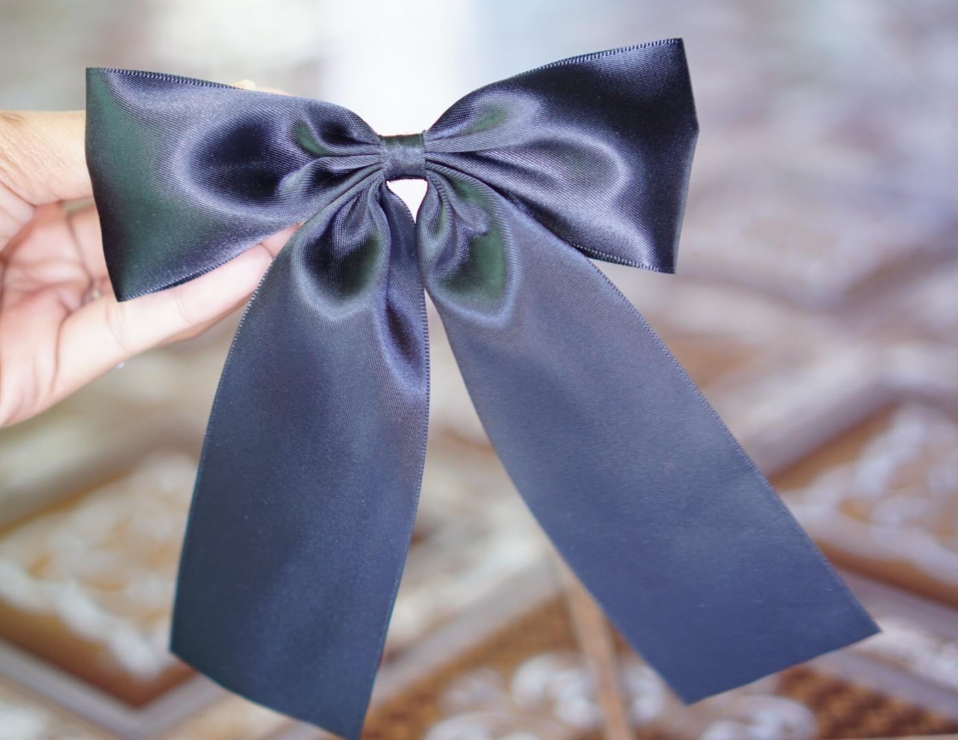 กิ๊บโบว์ผ้า สีดำ