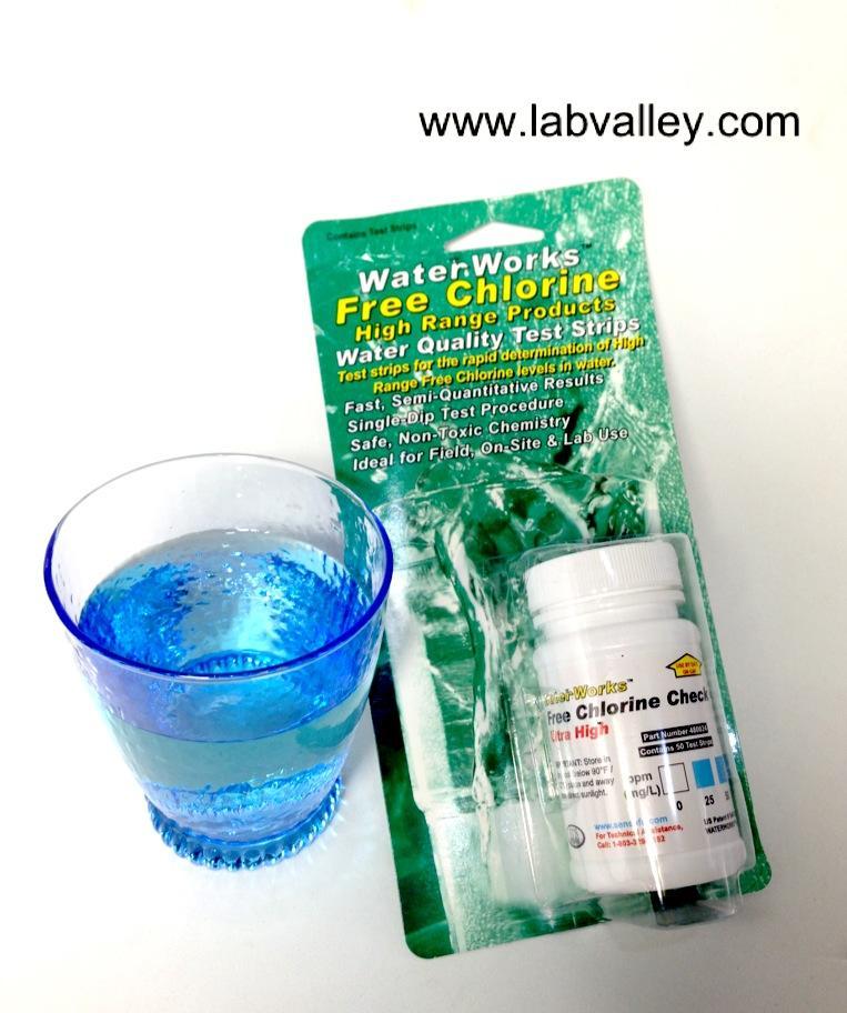 กระดาษวัดค่าคลอรีน free chlorine test kit