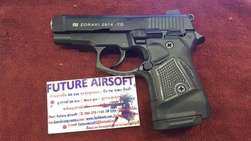 Zoraki M2914 Black 9mm P.A.K. Blank Gun.