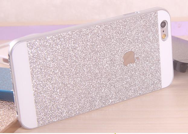 เคสไอโฟน 6 Plus / 6s Plus เคสไอโฟน Hard Case กากเพชรสีเงิน