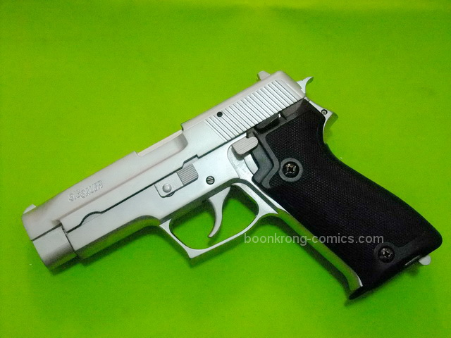 FS SIG SAUER 9mm. P220 Chrome Model cap gun
