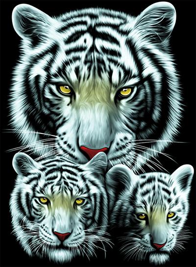 ลายสกรีนฮาฟโทนแนวเสือ