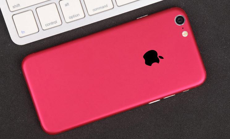 ฟิล์มหลังเครื่อง Iphone 6Plus/6sPlus (สีชมพู)