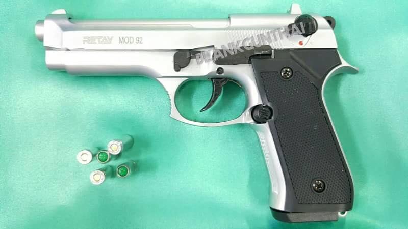 ปืนแบงค์กันส์ Blankgun Retay M92. สีเงิน