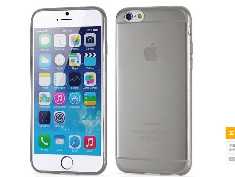 เคสไอโฟน 6/6s เปลือก TPU สีดำ บางเฉียบ 0.3 MM