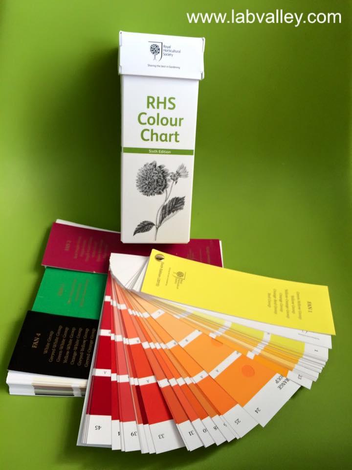 สมุดคู่มือเทียบสี rhs colour chart