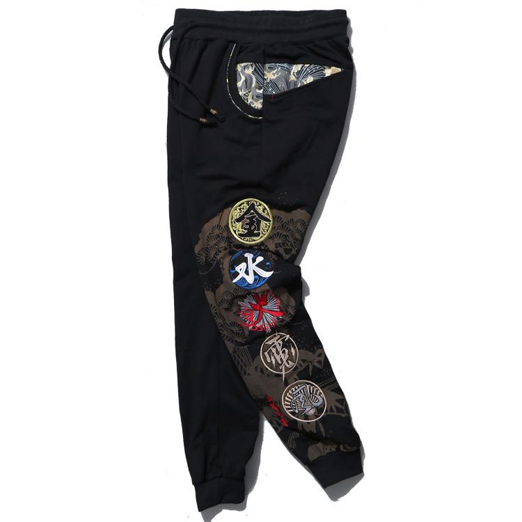 *Pre Order*Jinzhong embroidery กางเกงลำลองผ้าฝ้ายปักลายไหมญี่ปุ่น size M-3XL