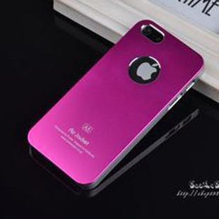 เคสไอโฟน 5/5s/SE (Hard Case Air Jacket) โชว์ตรา apple สีชมพูเข้ม