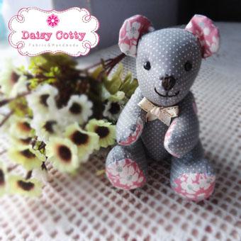 [Made to Order] ตุ๊กตาหมีผ้าคอตตอน ขนาด 4 นิ้ว