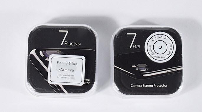 กระจกนิรภัยกล้องไอโฟนอย่างดี iPhone 7 พร้อมกล่องบรรจุภัณฑ์
