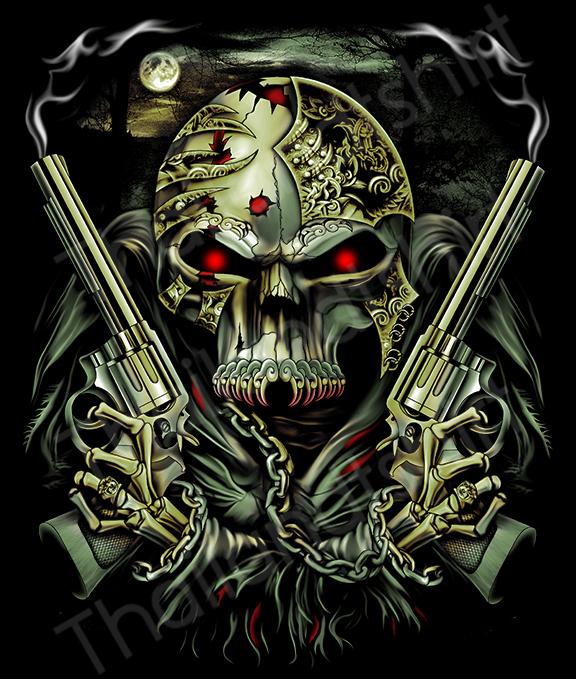 มือปืน-หัวกระโหลก