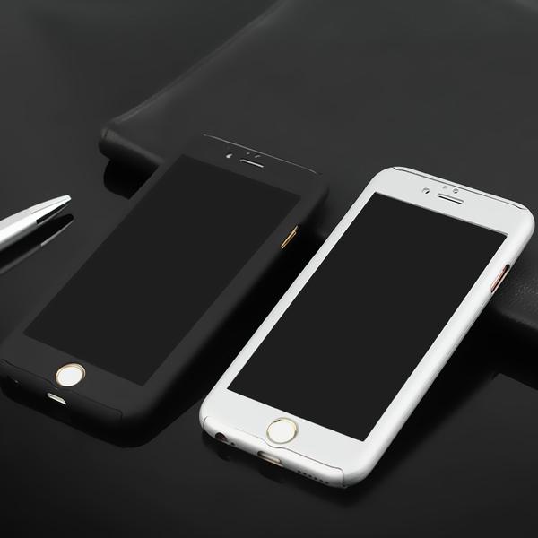 เคสไอโฟน6Plus/6sPlus (เคสประกบฝาหลังคลุมรอบตัวเครื่อง) Black
