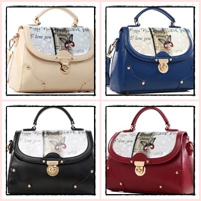 Pre Order กระเป๋าแฟชั่นทรงสวยเก๋ๆ ในแบบสาวเกาหลี ตกแต่งอย่างประณีตทุกจุด มีให้เลือกถึง 4 สี