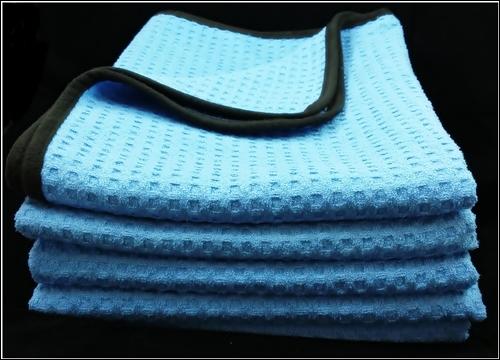 ผ้าไมโครไฟเบอร์ (เกรดพรีเมี่ยม)ซับน้ำเช็ดแห้ง Waffle Weave Microfiber Drying Towel