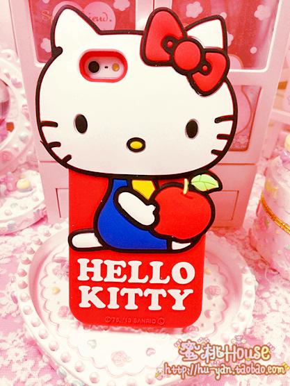 เคสไอโฟน 5/5s/SE เคสซิลิโคน Hello Kitty