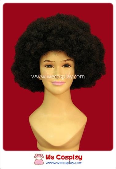 วิกผมอะโฟร วิกผมหยิกฟู สีดำ Black Afro Fancy Wig