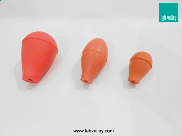 ลูกยางดูดปิเปต (ลูกยางดูดสารเคมี) rubber pipette bulb